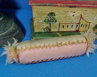 Antique Amish Sewing  Pin Cushion, Scissor Roll, Quilting Pincushion