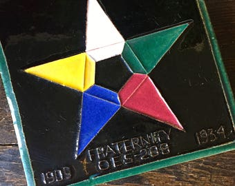 Order of the Eastern Star Ceramic Tile, OES Fraternity, Masonic Tile