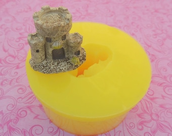 Tiny Castle, Sand Castle Mold, Silicone Mold, Dollhouse Castle, Terrarium Mold, Fairy Castle Mold, Polymer Clay, Resin, Fondant, Chocolate