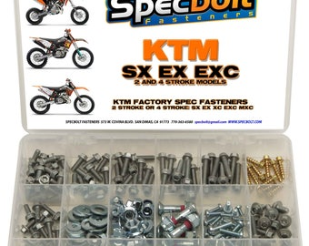 250pc Specbolt KTM Bolt Kit all Sx Exc Xc 2 & 4 stroke 50 60 65 85 105 125 250 300 360 380 550 350 400 450 500 520 525 530 620 640 models