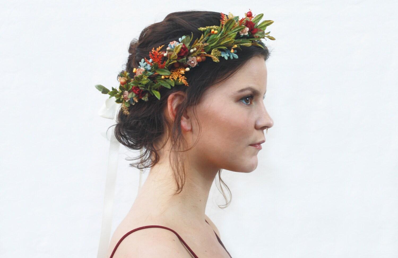 Rustic tuscan floral crown wildflower headpiece flower zoom izmirmasajfo