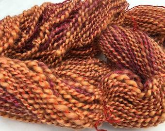 Rosebud - Hand Spun, Hand Dyed Alpaca Yarn