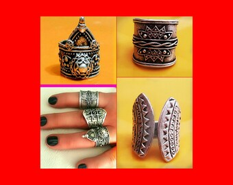 Silver Tribal Ring, Gypsy Ring,  Boho Silver Ring, Long Ring, Ethnic Ring, Tribal Ring, Bohemian ring, Gypsy Rings, Knuckle rings, Silver