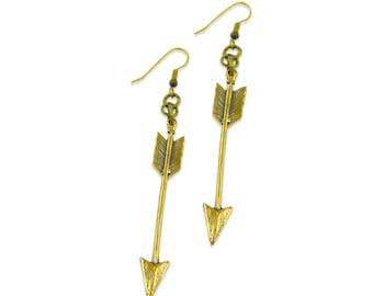 Arrow Earrings - Bronze- Gwen Delicious Jewelry Designs 062