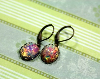 Petite Bella's Garden Leverback Dangle Earrings Twilight Inspired Small Lightweight All day Comfort