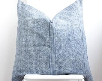 """Hmong Batik Indigo Pillow Cover 26"""" x 26"""""""