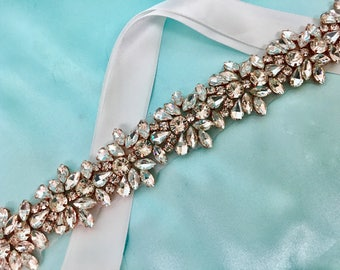 Bridal Gown Sash, Bridal  Gown Belt, Wedding Gown Sash, Wedding Dress Sash, Crystal Dress Sash, Wedding Gown Accessory, Formal Dress Belt