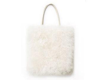Fluffy Sheepskin Tote | Bag | Carryall | Laptop bag
