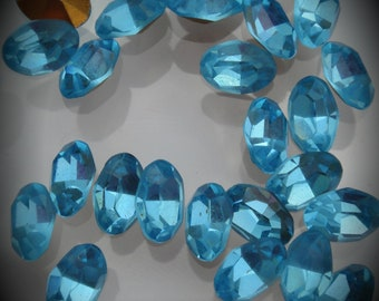 286 5x7mm Genuine Swarovski Crystals Aquamarine Oval Foiled Rhinestones
