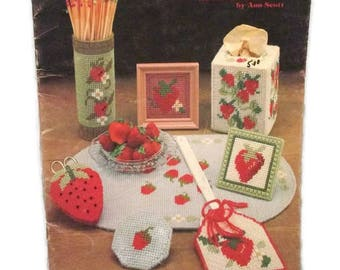 Strawberry Seasons Plastic Canvas for Cross Stitch and Needlepoint by Ann Scott
