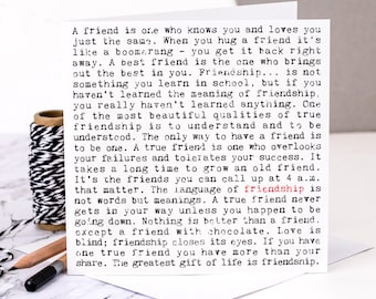 Friendship Card; Best Friend Card; Friends; Long Distance Friendship; Birthday Card For Friend; GC157