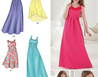 Simplicity 1510 Girls and Girls Plus Size Special Occasion Dresses. Size 8 1/2 to 16 1/2.
