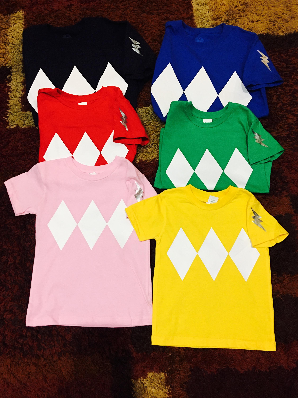 Power Ranger Shirts/ Birthday/ Halloween/ Unisex shirts/