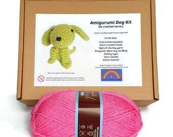 Amigurumi Dog Kit - Pink Crochet Dog Kit