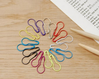20 bulb stitch markers, safety pin stitch markers, removable stitch markers, locking stitch marker, coiless safety pins, uk, mix pack