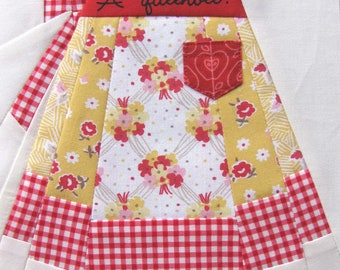 Vintage Apron, Paper Pieced Pattern
