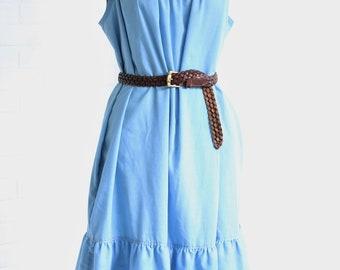 Chambray House Dress ~ Southwest Embroidery ~ Project Dress Midi Dress ~ M/L/XL