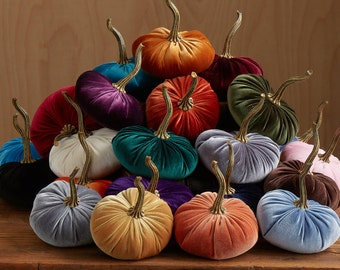 Velvet Pumpkins WHOLESALE ORDER MINIMUM 24 pieces, wedding decor, tablescape centerpiece, wholesale home decor trends, best selling items