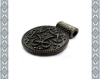 Necklace pendant BIRKA Amulet antique brass pendant viking Jewelry Celtic jewelry Germanic-Jewelry historical Amulet Antique Medallion