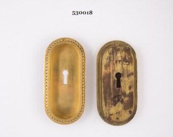 Gilt Antique Pocket Door Handles 530018