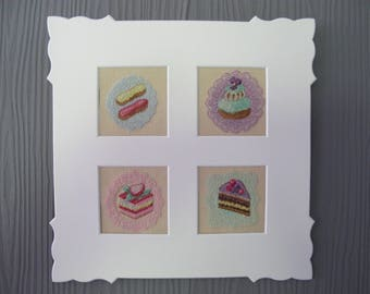 """Small painting """"small treats and lovely lace"""""""