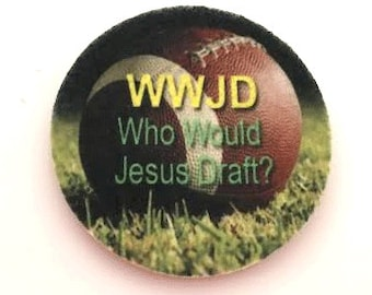 Fantasy football car coasters for your cars cup holder - Christian car decor - WWJD Who would Jesus draft? - Free Shipping - auto coasters