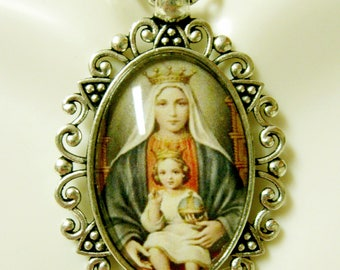 Madonna and child necklace - AP26-134