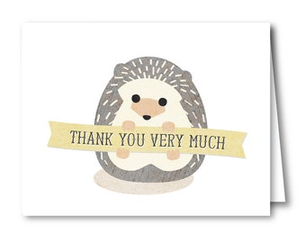 Thank You Card, Baby Shower // BABY HEDGEHOG