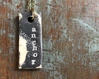 "Clay diffuser necklace ""anchor"""