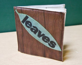 Leaves Cloth Book, printed on organic cotton