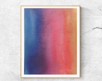 Watercolor  Art Print, Colorful  Watercolor Art, Abstract Art Print, Watercolor Print, Modern Wall Art, Modern Watercolor Print