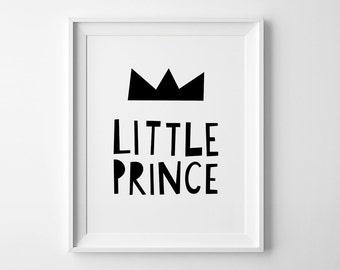 Little prince boys room decor, nursery art, boys nursery wall art, kids bedroom decor, nursery wall print, kids poster, playroom wall decor