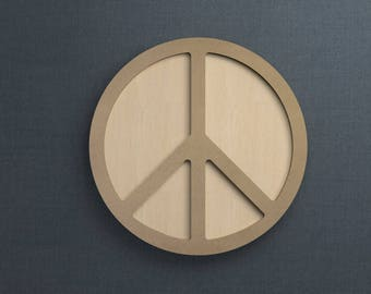 Frame Kit, Peace Sign, Wood Frame, Picture Frame, DIY