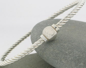 "Beach Ball ""Twist"" Bracelet Screwball Bracelet  in Sterling Silver.Made and ships from  Cape Cod"