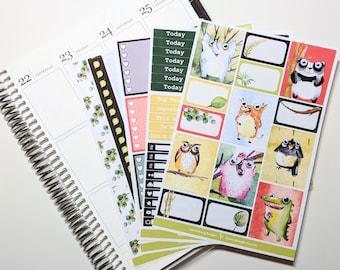 Animal Friends - Main Kit - Planner Stickers - No White Space - Erin Condren - Happy Planner
