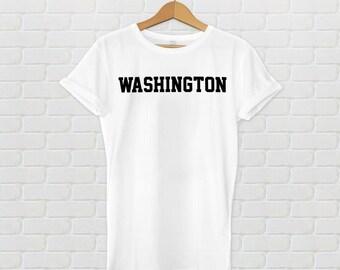 Washington Varsity Style T-Shirt - White