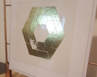 Gold Geometric Card