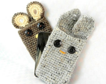 Crochet amigurumi pattern - Pocket Pals - Bunny or bear or owl - Crochet tutorial PDF