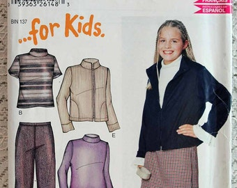 New Look 6210, Girls' Skirt, Jacket, Top and Pants Sewing Pattern, Girls' Patterns, Girls' Size 7 - 12, Uncut