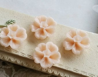 13 mm Tan Brown Morning Glory Resin Flower (.ss)