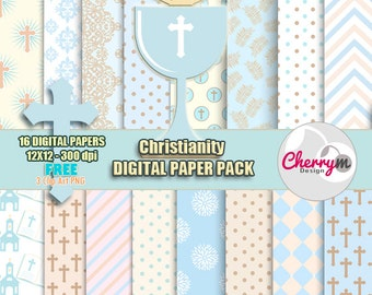 First Communion, Baptism Digital Papers, Free Clip art, Digital Scrapbooking, Christening, Holy Cross Baptismal Clipart, scrapbook papers