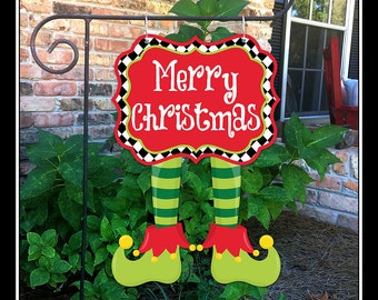 christmas garden flags. READY TO SHIP Christmas Garden Flag Yard Tree Elf Flags L