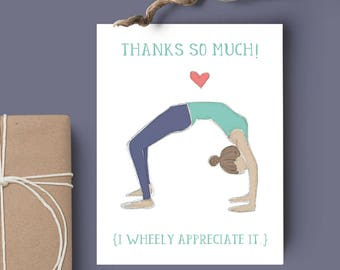 Thanks So Much! - 8-Pack of Yoga Pose Thank You Cards // Blank Inside // Yoga Cards // Yoga Stationary // Gratitude Card // Gifts for Her