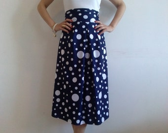 Extravagant Polka Dot Skirt / Stylish Maxi Skirt / Plus Size Summer Dress