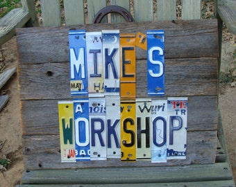 Custom Sign,License Plate Signs,Personalized Man Cave Sign,Your Choice,Shop Sign,Garage decor,Garage Sign,Customized Sign,Auto Shop Sign