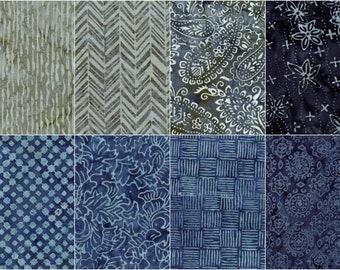 Fabric Bundle of 8 Batiks - Marcus Fabrics Primo Batiks R07 Neutral Territory - Batik Fabric - 100% Cotton