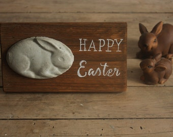 Happy Easter Decor - Rustic Easter Decor - Rustic Wooden Happy Easter Sign - Rustic Wooden Sign - Farmhouse Decor - Easter Decor - Wall Art