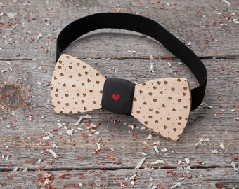 Wood bow tie love, wedding, groom, wedding Wooden bow tie Boyfriend gift, Gifts for Him, Personalized, groomsman bow tie, pocket square