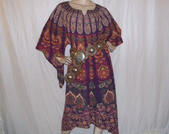 Chakra Caftan Party Dashiki Cruise Dress Angel Resort Island Hippie Upcycled Tapestry Goddess Boho Gypsy Dress Unisex S - 2X Plus Size