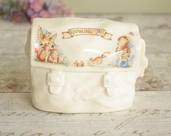 Wedgwood bone china child's money box, 'Rambling Ted' design